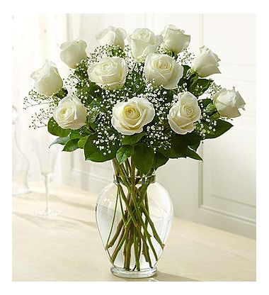 Send 1 dozen white roses with free vase to pampangapampangaflowershop one dozen white roses with free vase pampanga mightylinksfo Image collections