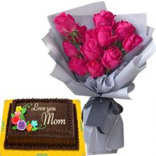 buy roses bouquet with goldilocks cake in pampanga