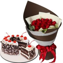 buy roses bouquet with goldilocks cake pampanga