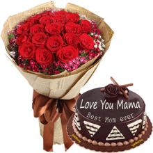 buy pink roses bouquet with goldilocks cake pampanga