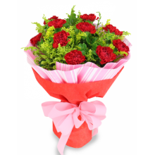 12 Red Carnations Bouquet in Pampanga
