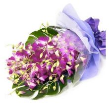 12 Purple Orchid in Bouquet