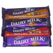 Cadbury Dairy Milk 4 Varieties 40g. to Pampanga