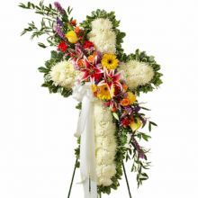 Luxurious Funeral Cross Flowers Send to Pampanga