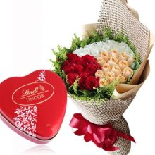 36 Mixed Roses with Lindt Chocolate Box to Pampanga