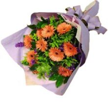 12 Orange Gerberas Bouquet in Pampanga