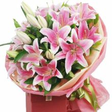 12 Pink Lilies Bouquet in Pampanga