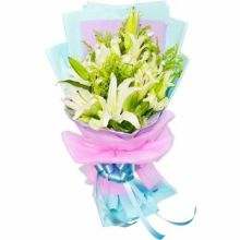 6 pcs White Lilies Bouquet in Pampanga