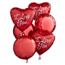 Send 6 pcs I Love You Mylar Balloon to Pampanga