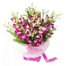 12 Purple Orchids Bouquet in Pampanga
