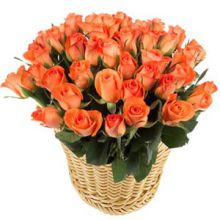 36 Orange Roses in Basket