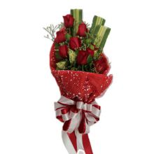 12 Red Roses in Bouquet Pampanga