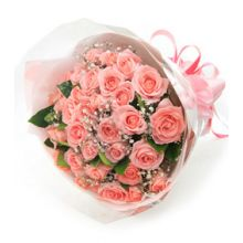 24 Pink Roses in Bouquet Pampanga