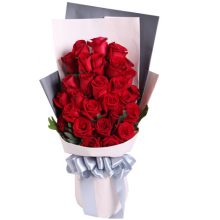 24 Red Roses in Bouquet Pampanga