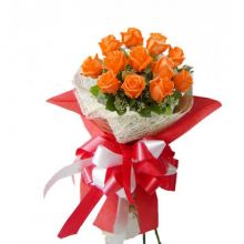 12 Orange Roses in Bouquet Pampanga