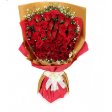 36 Red  Roses in Bouquet Pampanga