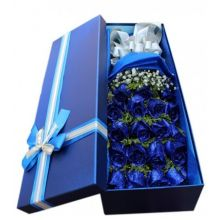 One Dozen Blue Roses in Box Pampanga
