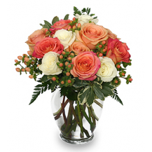 12 Mixed Roses with Free Glass Vase Pampanga