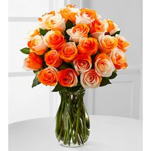 24 Orange Roses with Free Glass Vase Pampanga
