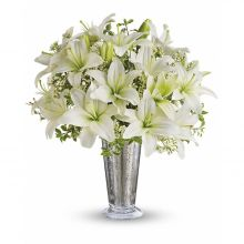 12 White Sympathy Lilies Send to Pampanga