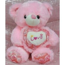 Pink I Love You Hug Bear Send to Pampanga