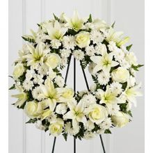 Lily Heavenly Funeral Wreath Arrangements in Pampanga