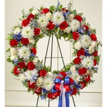 South of The Border Patriotic Funeral Wreath Send to Pampanga