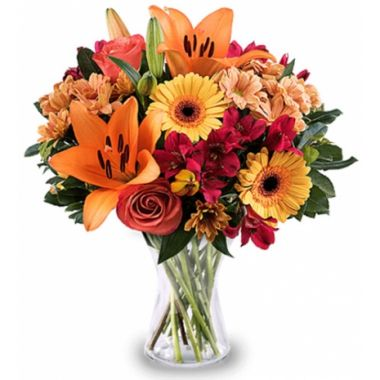 Peach Flavor Lilies and Roses
