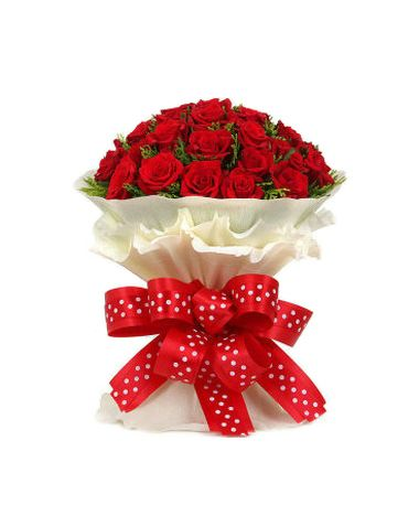 24 Red Roses in Bouquet Send to Pampanga
